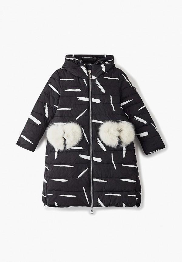 пальто mes ami для девочки, черное