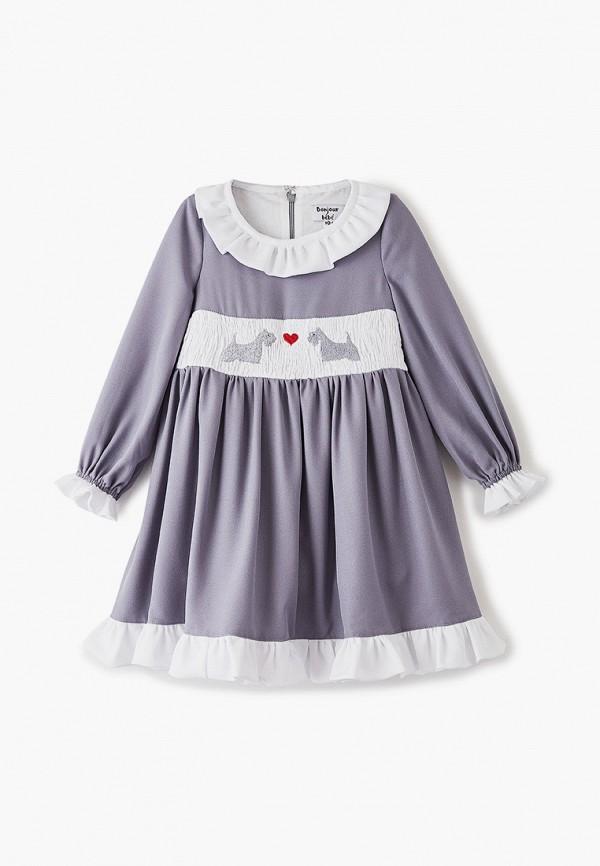 платье bonjour bebe для девочки, серое