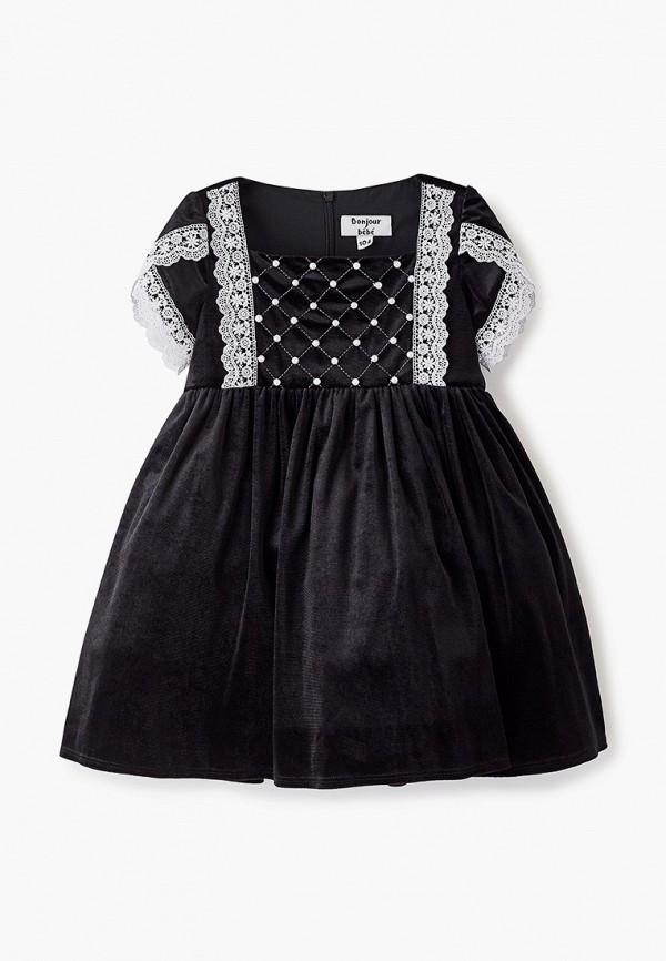 платье bonjour bebe для девочки, черное