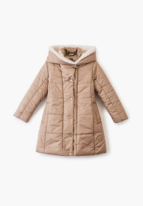 утепленные куртка saima для девочки, бежевая