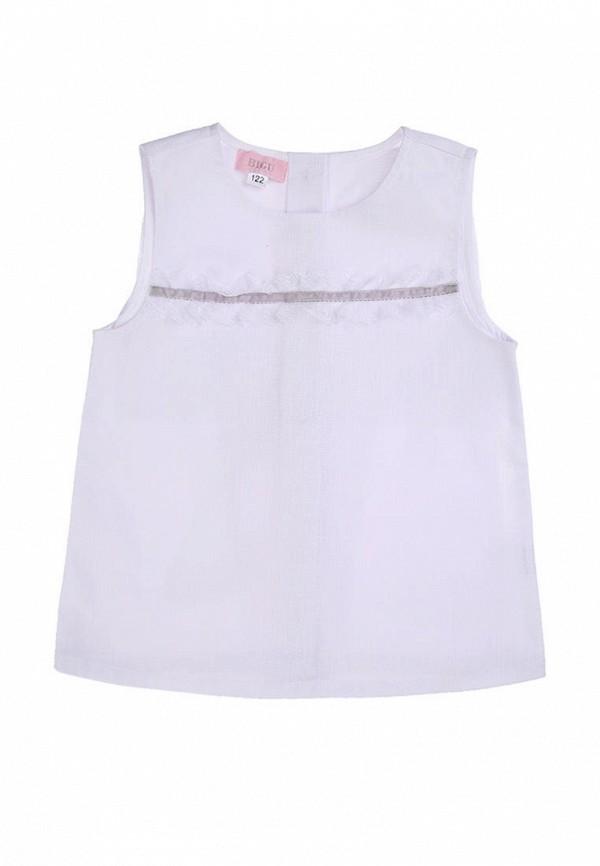 блузка bigu для девочки, белая