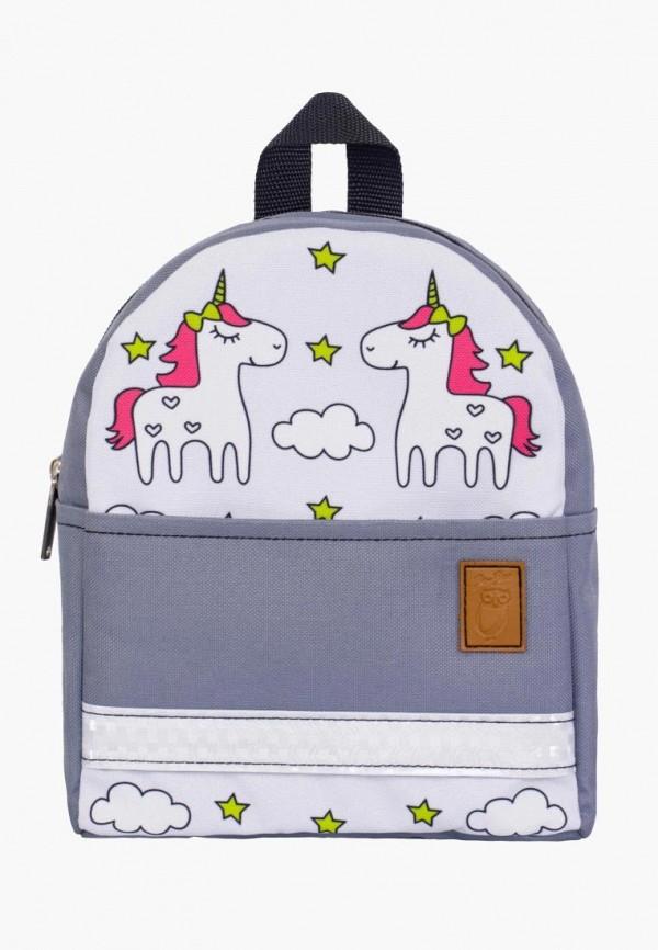 рюкзак zo-zoo для девочки, серый