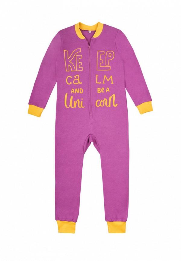 пижама garnamama для девочки, фиолетовая