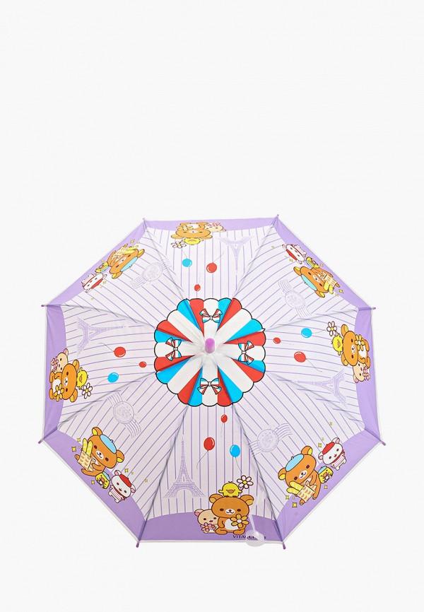 зонт-трости vitacci для девочки, фиолетовый