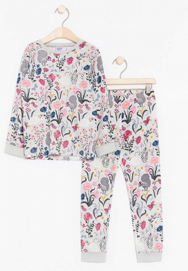 пижама lindex для девочки, серая