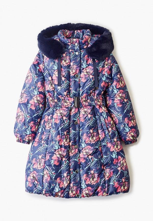 утепленные куртка saima для девочки, синяя
