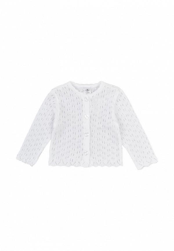кардиган фламинго текстиль для девочки, белый