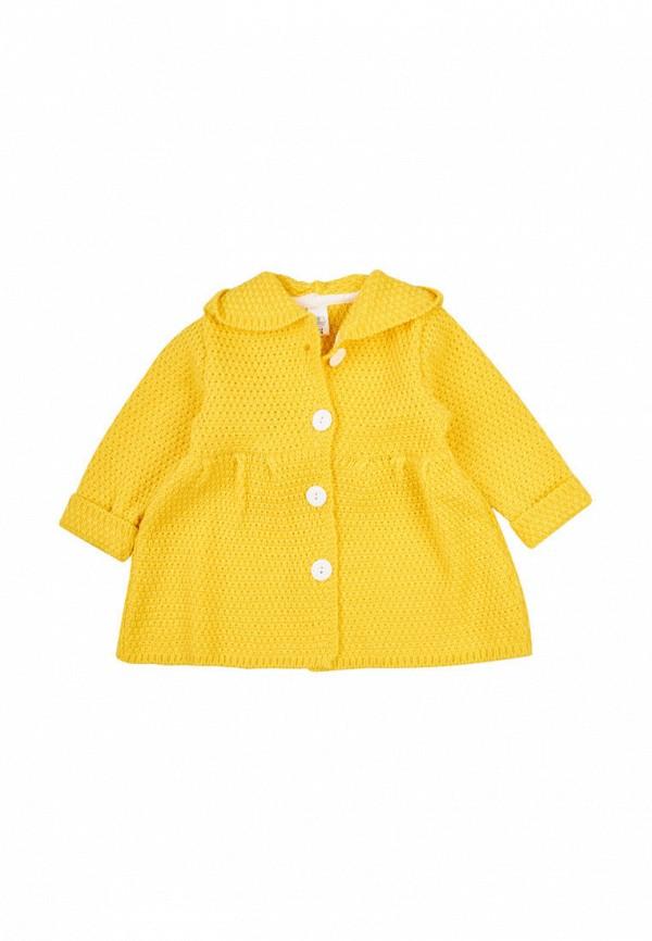 кардиган фламинго текстиль для девочки, желтый