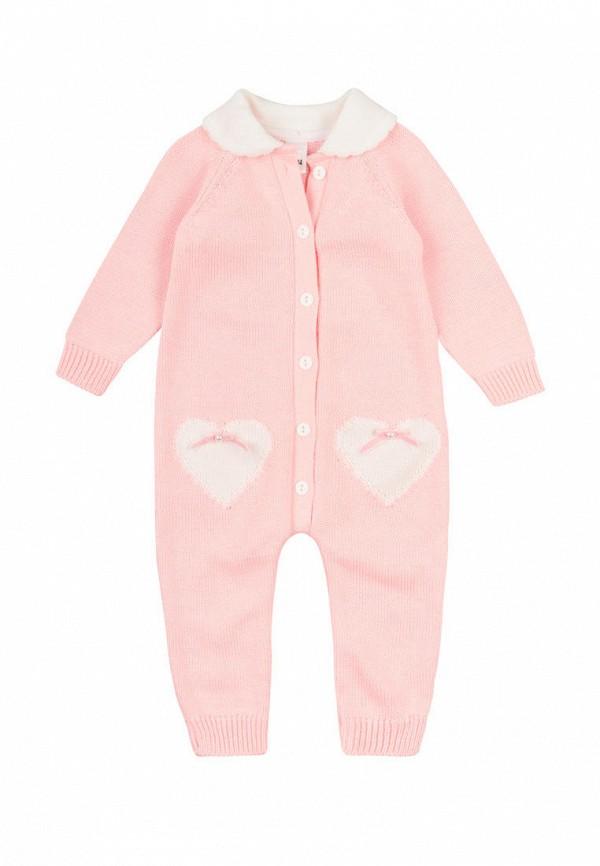 комбинезон фламинго текстиль для девочки, розовый