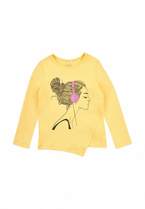 лонгслив бемби для девочки, желтый