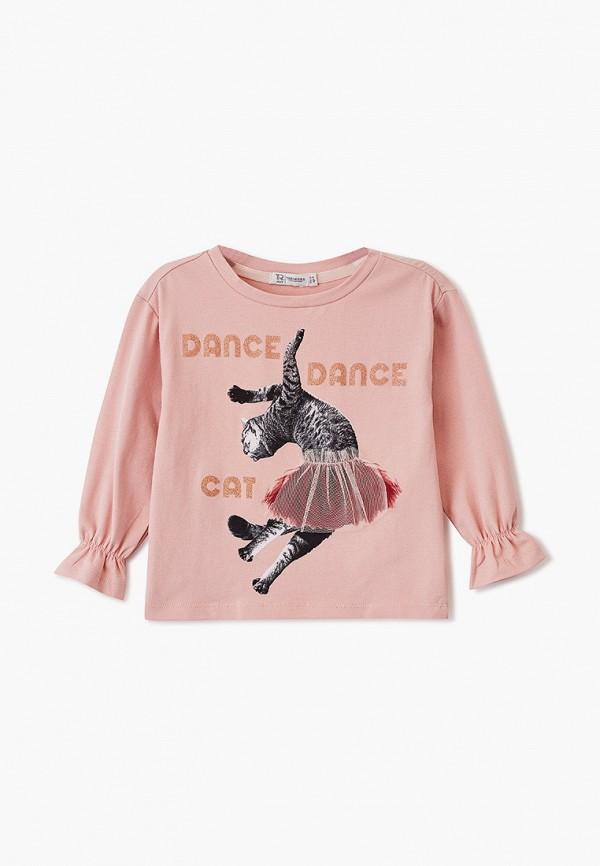 лонгслив trenders для девочки, розовый