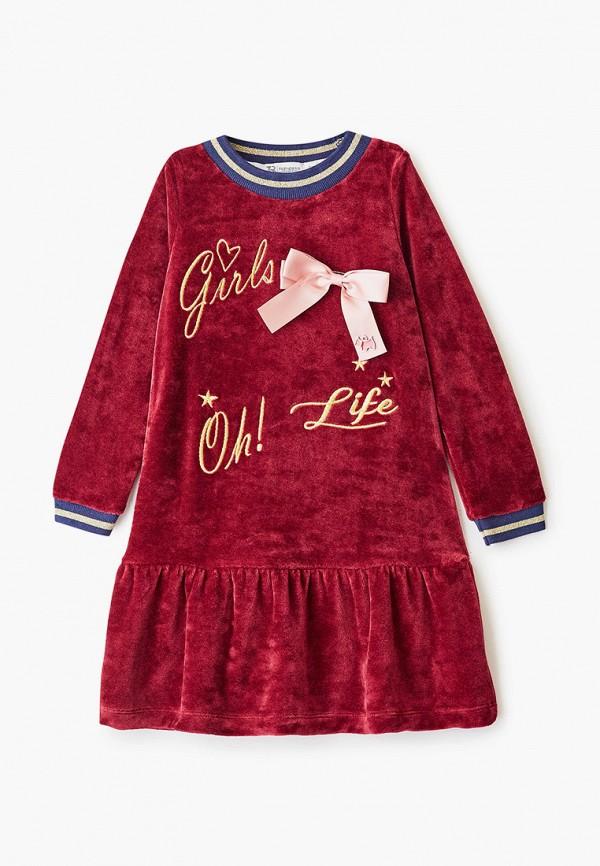 повседневные платье trenders для девочки, бордовое