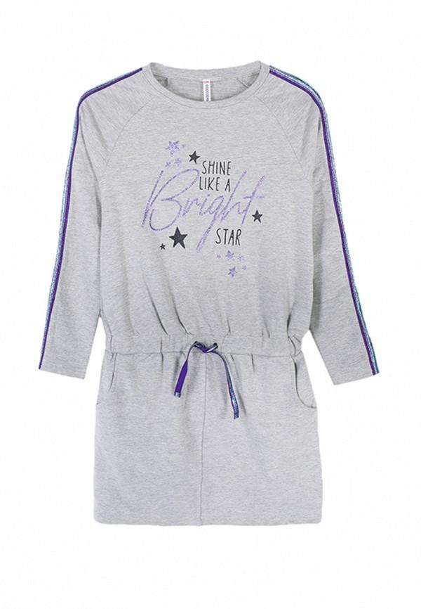 повседневные платье coccodrillo для девочки, серое