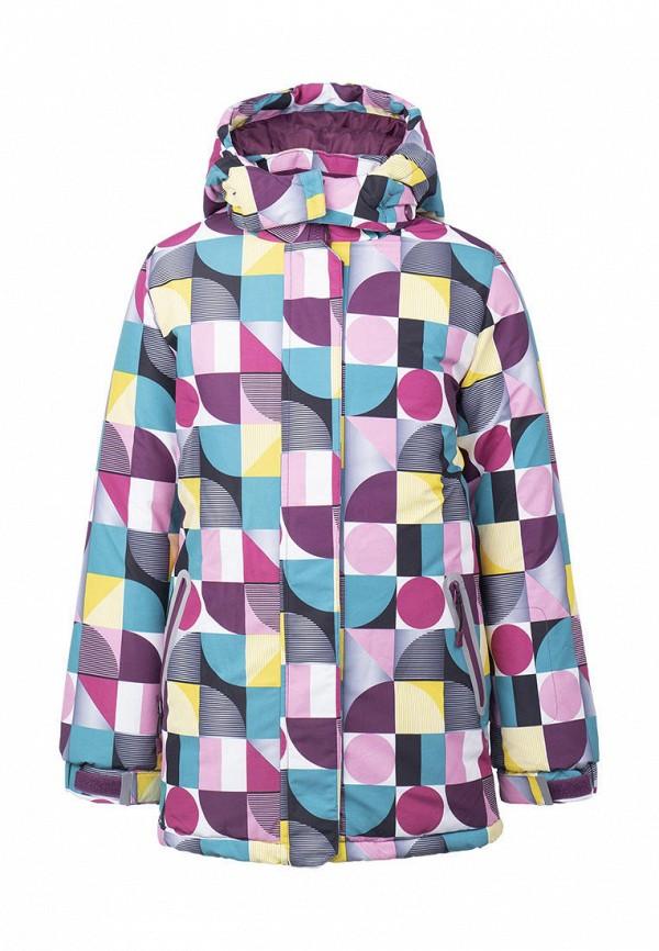 утепленные куртка playtoday для девочки, разноцветная