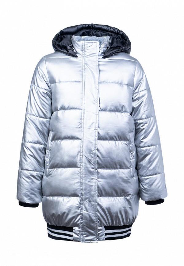 утепленные куртка playtoday для девочки, серебряная
