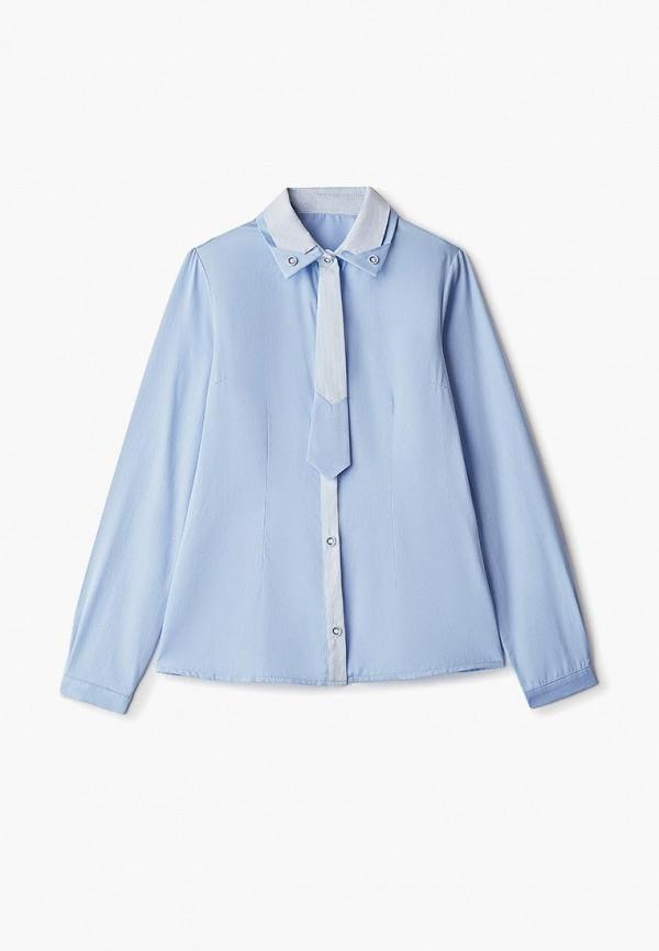 рубашка kaysarow для девочки, голубая