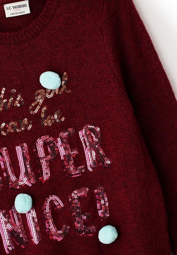 Джемпер для девочки LC Waikiki цвет бордовый  Фото 3