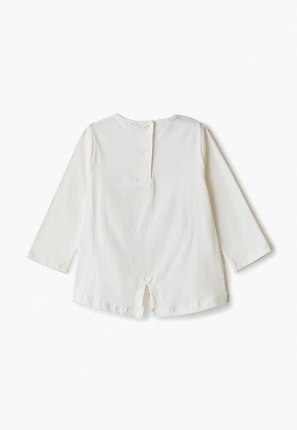 Лонгслив для девочки Sarabanda цвет белый  Фото 2