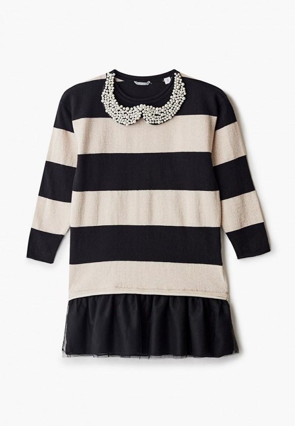 повседневные платье sarabanda для девочки, черное