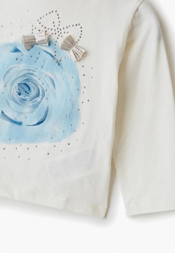 Лонгслив для девочки Sarabanda цвет белый  Фото 3