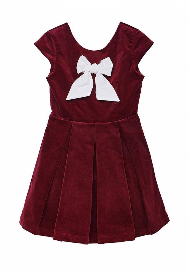 повседневные платье cookie для девочки, бордовое