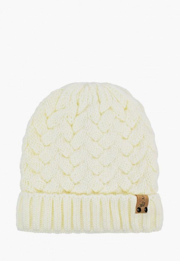 шапка anmerino для девочки, белая