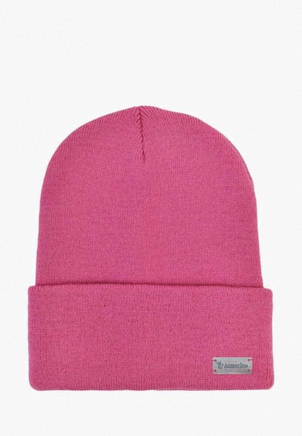 шапка anmerino для девочки, розовая