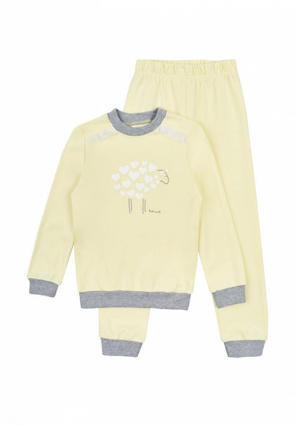 пижама robinzon для девочки, желтая