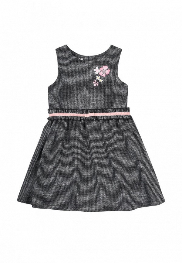 повседневные платье бемби для девочки, серое