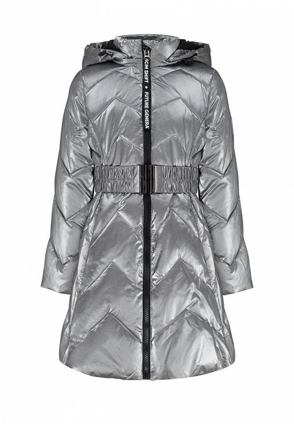 утепленные куртка смена для девочки, серебряная