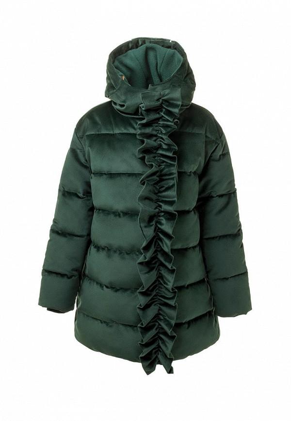 утепленные куртка смена для девочки, зеленая