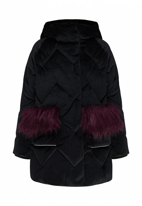 утепленные куртка смена для девочки, черная