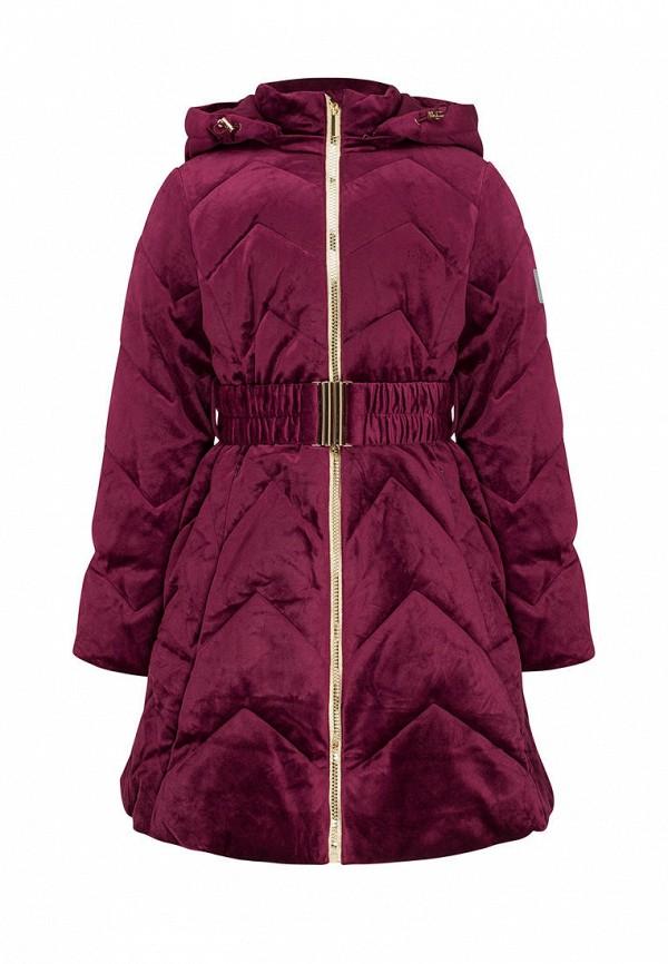 утепленные куртка смена для девочки, бордовая