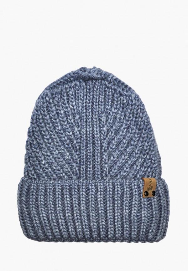 шапка anmerino для девочки, синяя