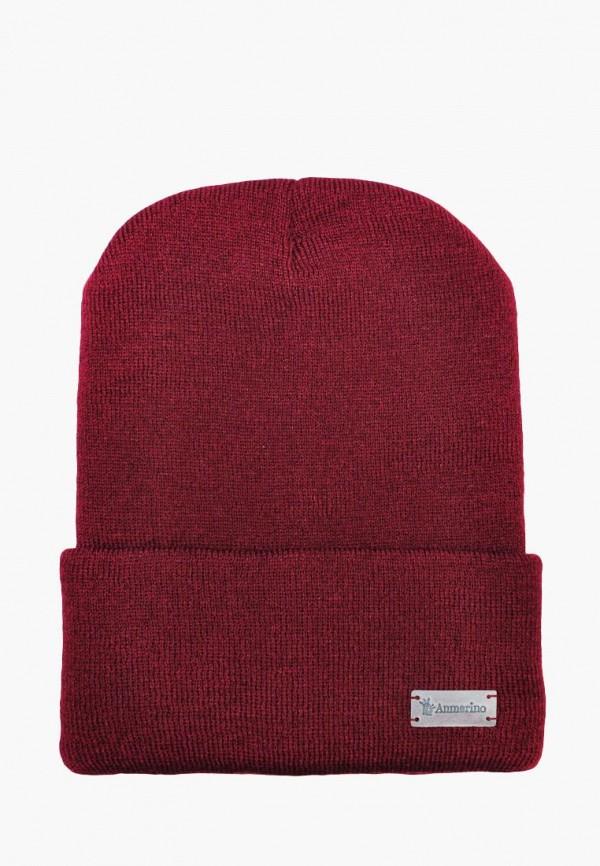 шапка anmerino для девочки, бордовая