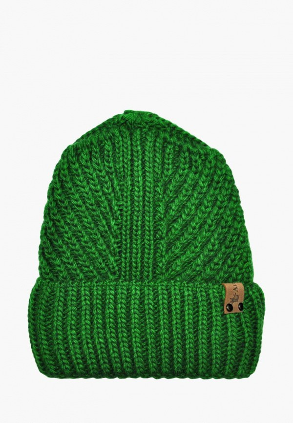 шапка anmerino для девочки, зеленая