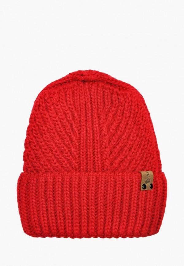 шапка anmerino для девочки, красная
