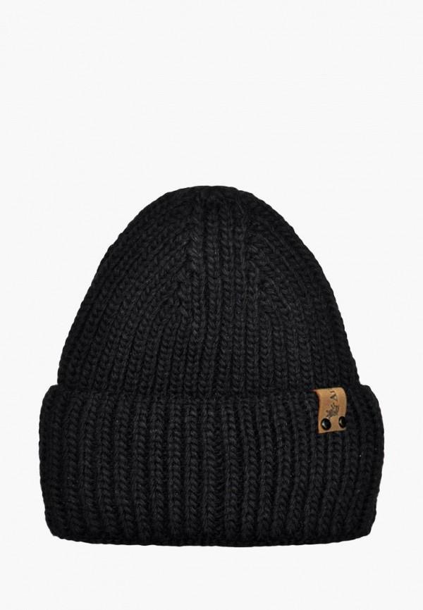 шапка anmerino для девочки, черная