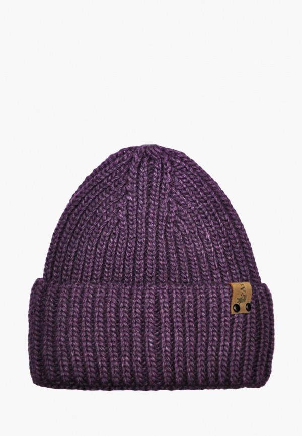 шапка anmerino для девочки, фиолетовая