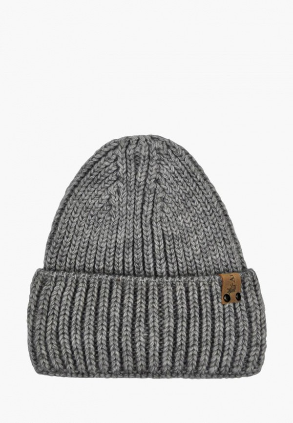 шапка anmerino для девочки, серая