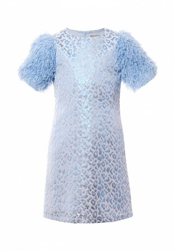 нарядные платье смена для девочки, голубое