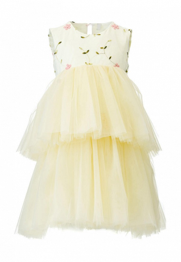 платье yumster для девочки, бежевое
