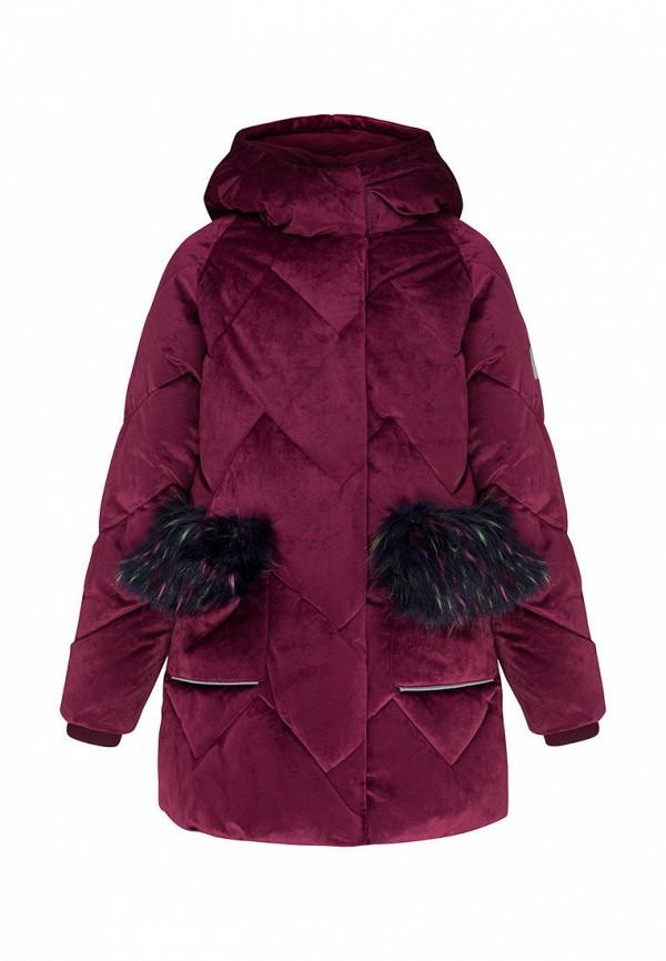 утепленные куртка смена для девочки, фиолетовая