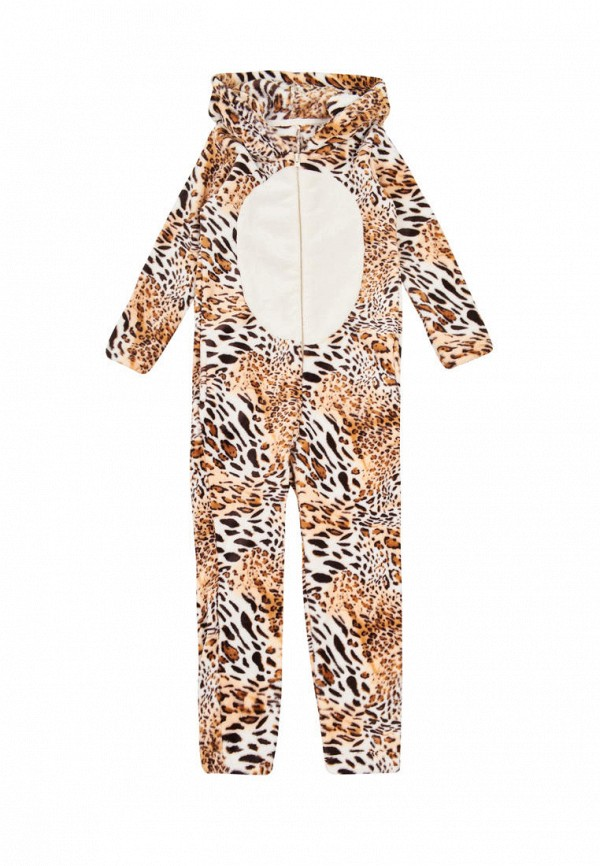 комбинезон фламинго текстиль для девочки, коричневый