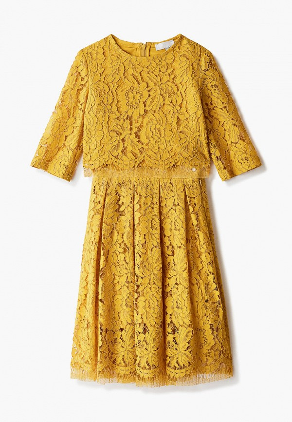 блузка smena для девочки, желтая