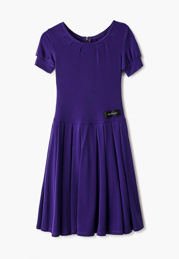 повседневные платье altranatura для девочки, фиолетовое