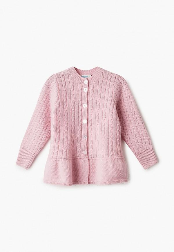 кардиган bubble's magic для девочки, розовый
