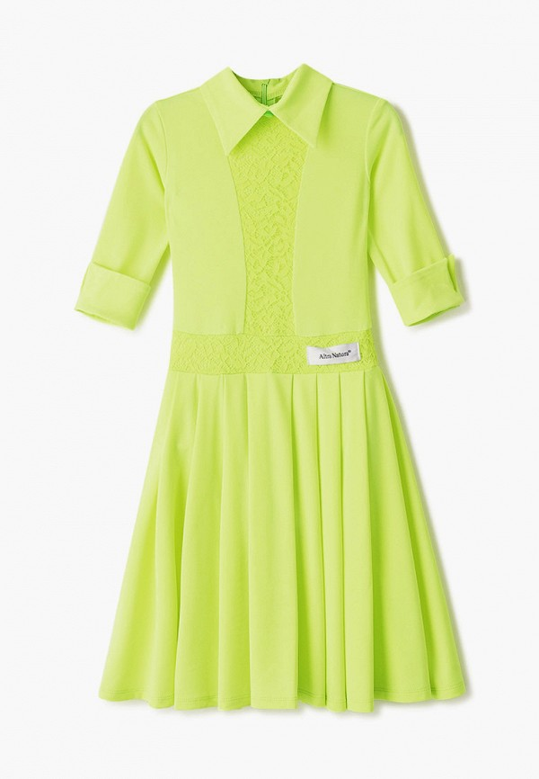 повседневные платье altranatura для девочки, зеленое