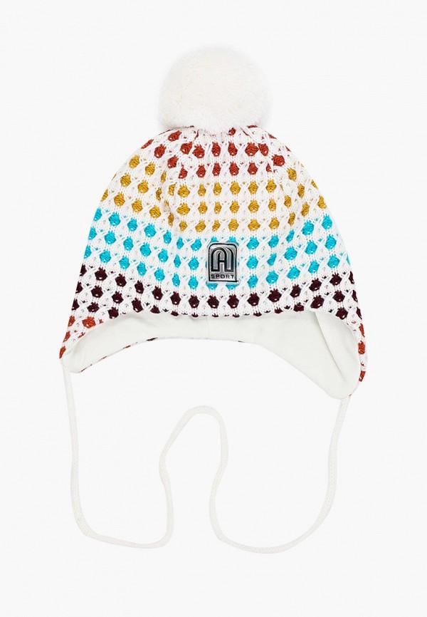 шапка artel для девочки, разноцветная
