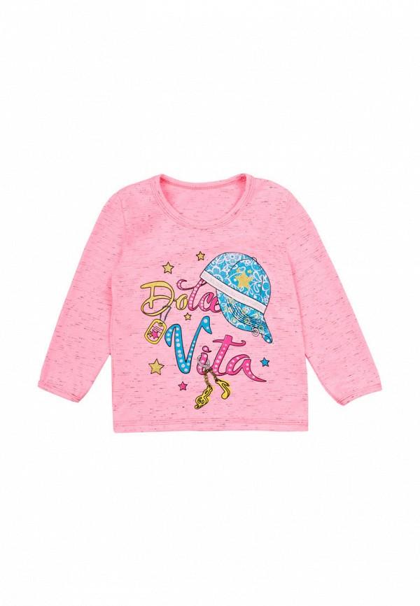 лонгслив малыш style для девочки, розовый